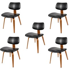 Set of Five 1950s Thonet Bentwood Chairs