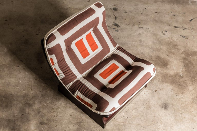Set of Five, 1970s Italian Lounge Chairs For Sale 8
