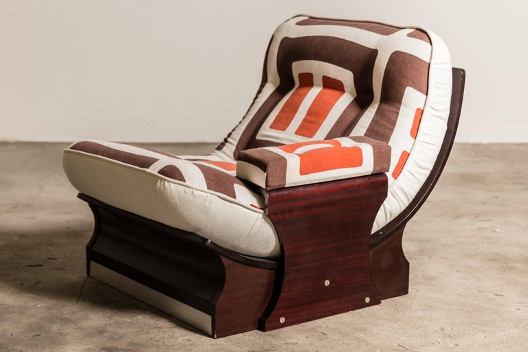Set of Five, 1970s Italian Lounge Chairs For Sale 9