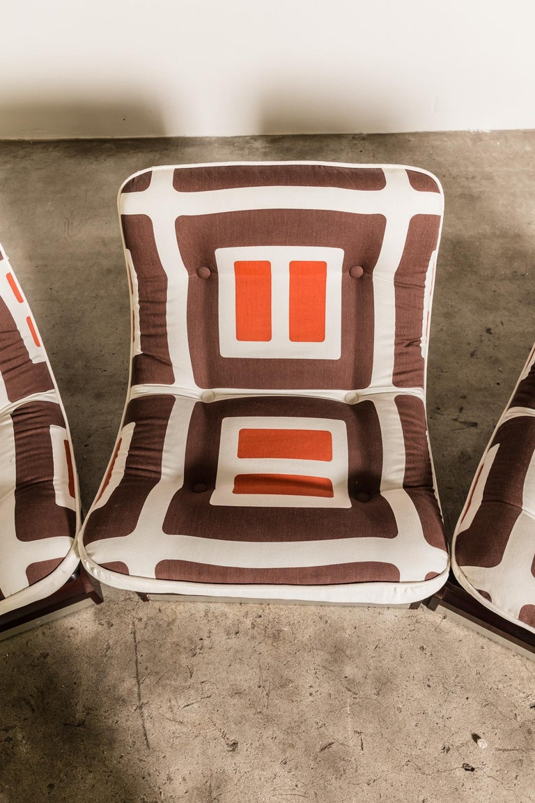 Set of Five, 1970s Italian Lounge Chairs For Sale 2
