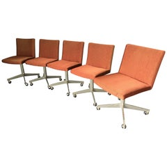 Set of Five 20th Century Office Chairs