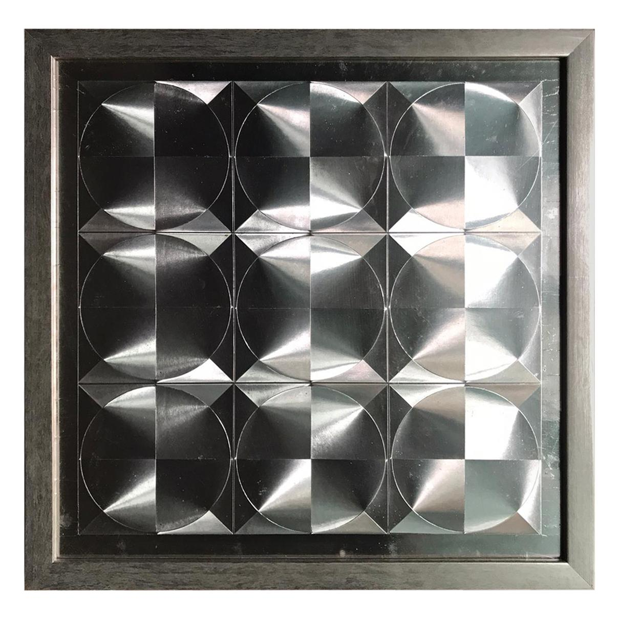 Set of Five Abstract Geometric Wall Art, 1970s