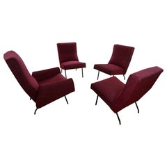 Set of Five Armchairs Forming Lounge by L.Paolozzi, 1955-1960s