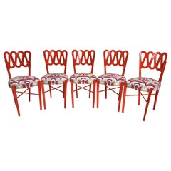 Set of Five Art Deco Ribbon Back Chairs