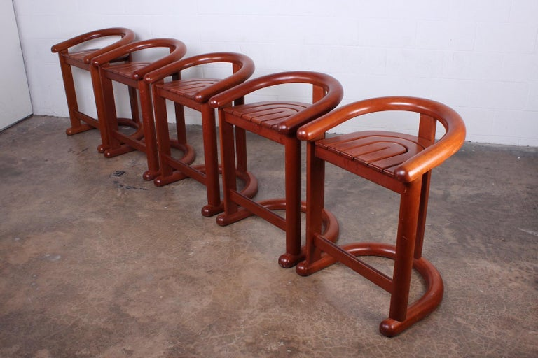 Set of Five Barstools For Sale 6