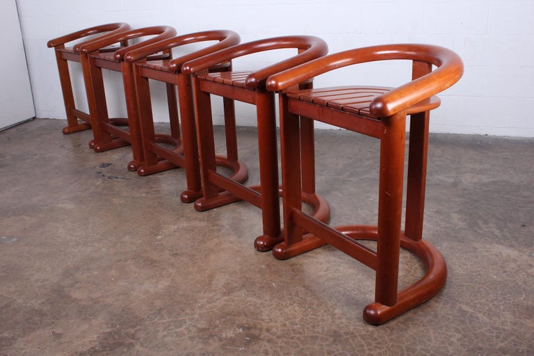 Set of Five Barstools For Sale 7