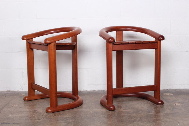 Set of Five Barstools In Good Condition For Sale In Dallas, TX