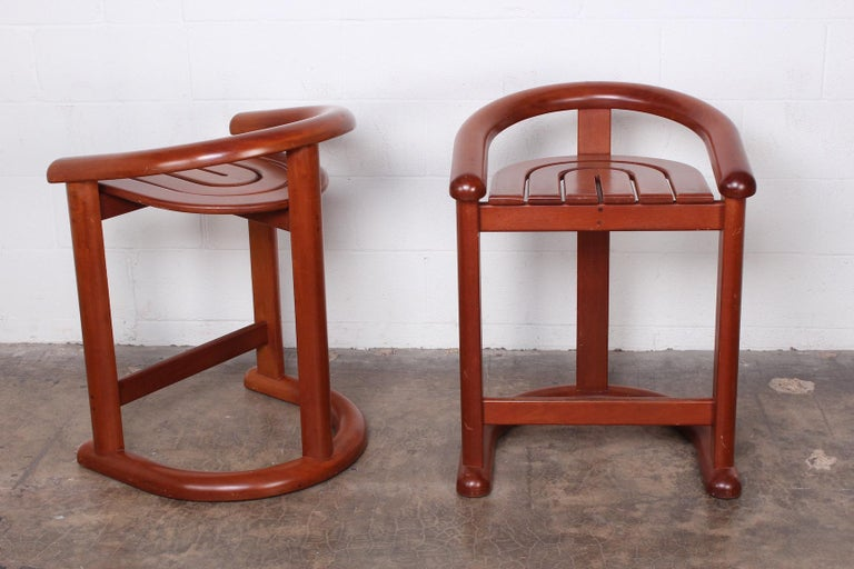 Late 20th Century Set of Five Barstools For Sale