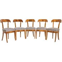 Set of Five Biedermeier Shovel Chairs, Cherry, Germany, circa 1830