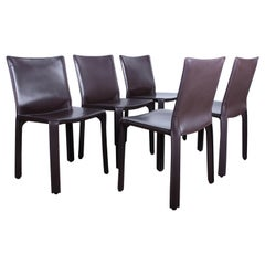 Set of Five Cab Chairs by Mario Bellini