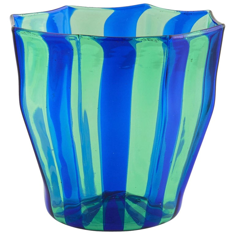 Campbell-Rey continue their exploration of color and geometric form, introducing new expressions to traditional materials. Presenting Rosanna, a Murano glassware collection comprised of an octagonal tumbler and carafe available in five striped