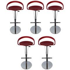 Set of Five Cayman Bar Stools by Fasem