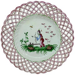 Set of Five Chinoiserie Faience Dishes