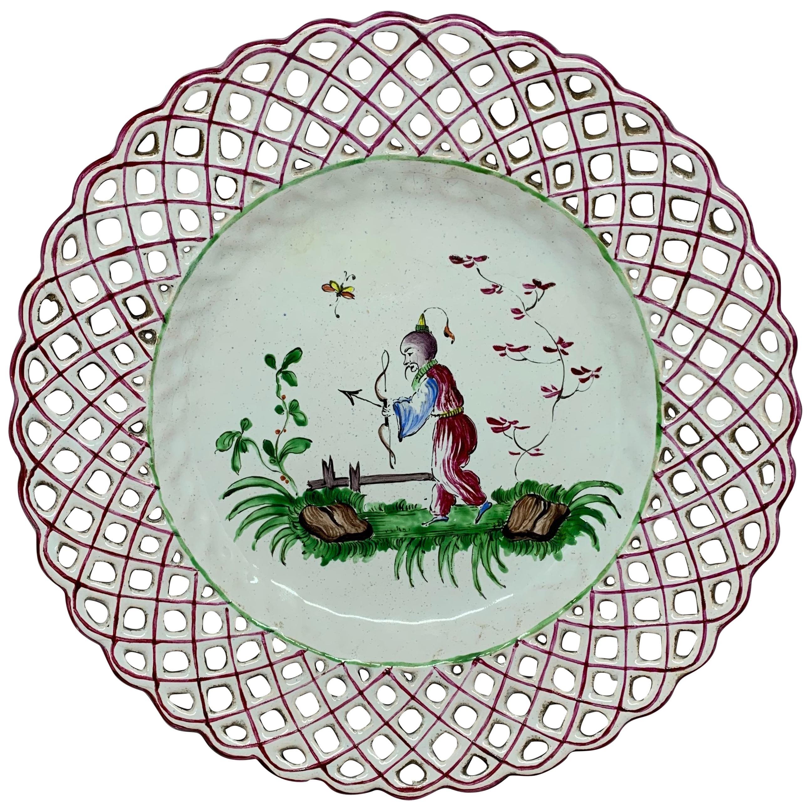Set Of Five Chinoiserie Faience Dishes For Sale