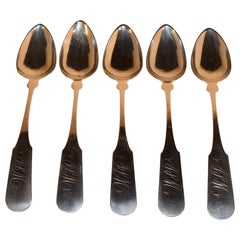 Set of Five Coin Silver Spoons