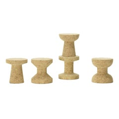 Set of Five Cork Family Stools Designed by Jasper Morrison