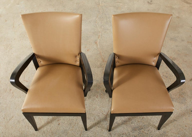 Set of Five Dakota Jackson Cadette Leather Dining Armchairs 3