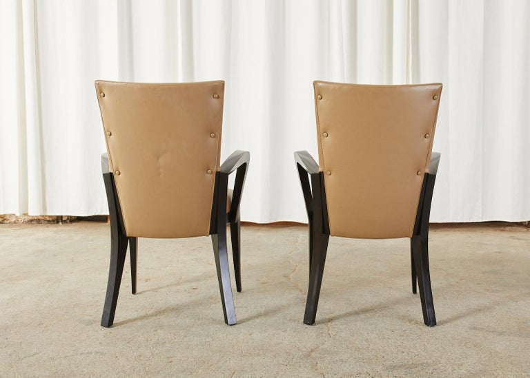 Set of Five Dakota Jackson Cadette Leather Dining Armchairs 10