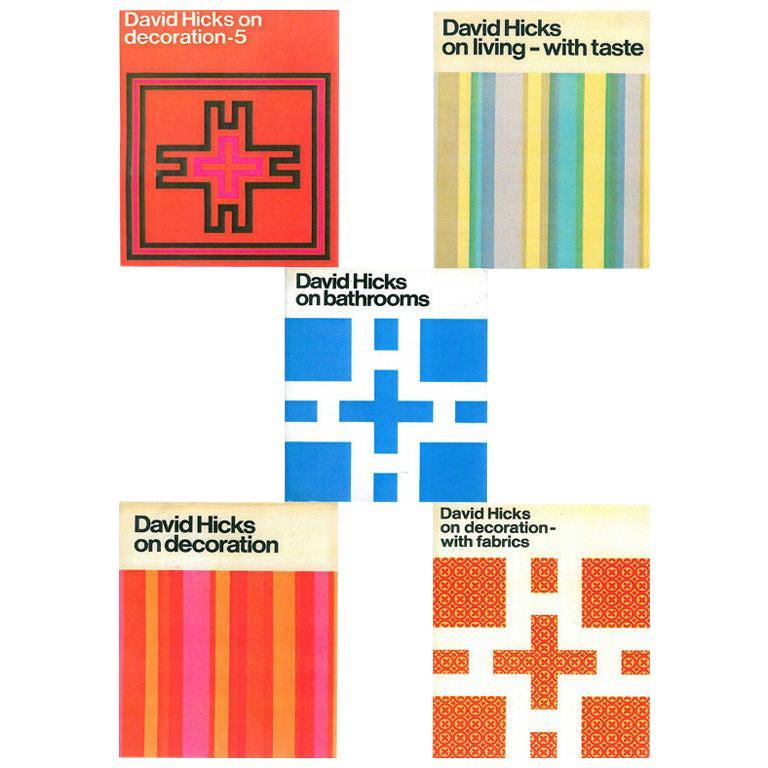 Set of Five David Hicks Design Books For Sale