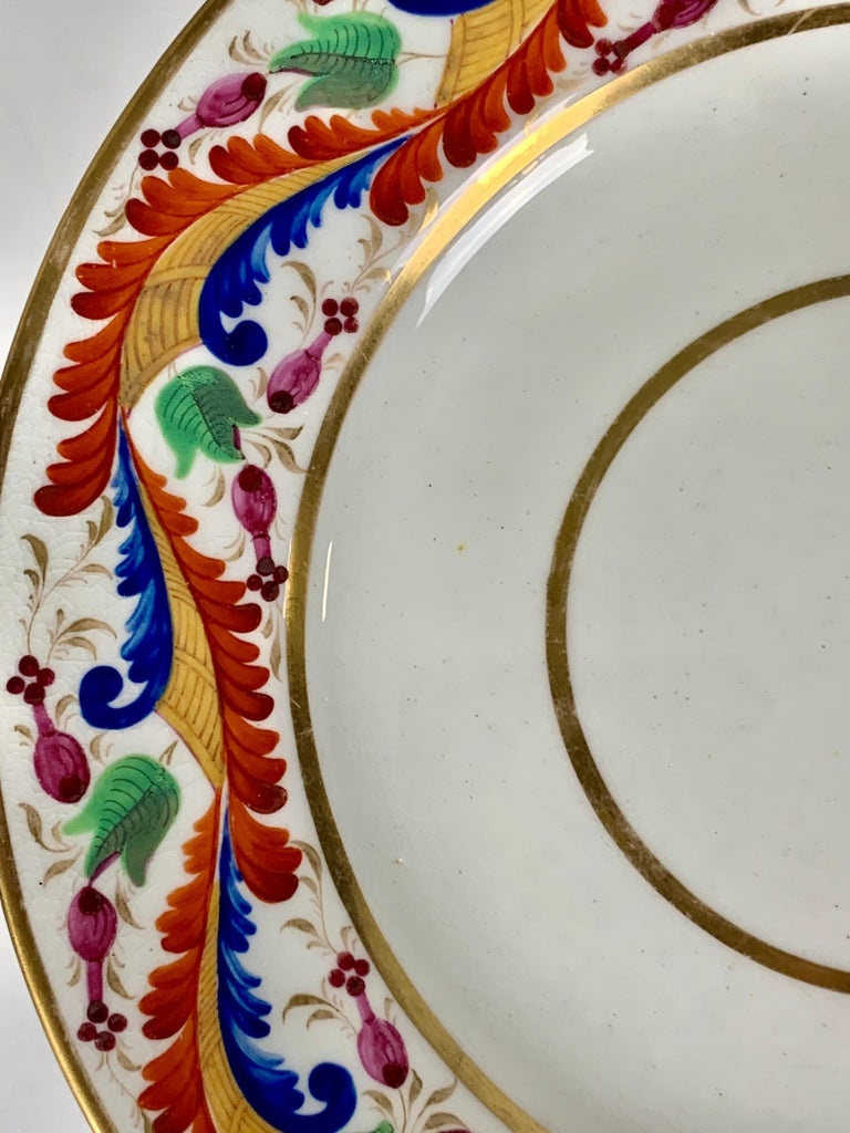 19th Century Set of Five Derby Dishes Hand-Painted in England, circa 1810 For Sale