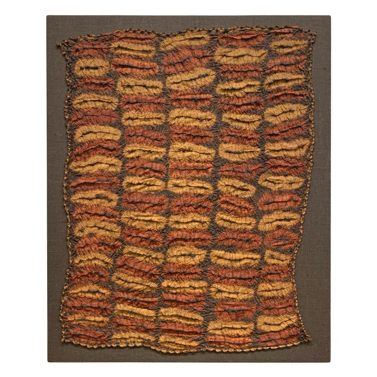 Hand-Woven Set of Five Dida Tie-Dyed Ceremonial Kerchiefs For Sale