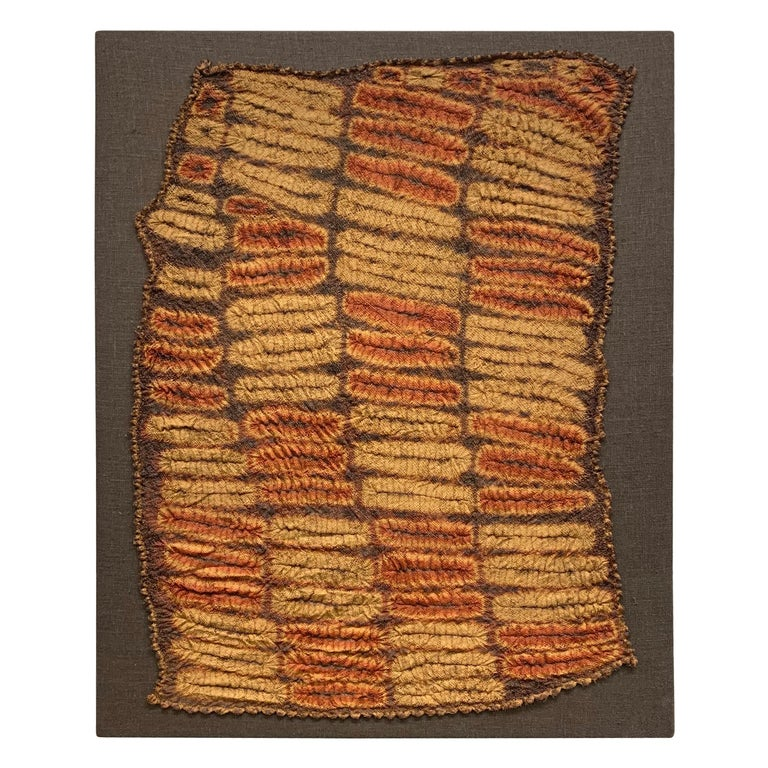 Set of Five Dida Tie-Dyed Ceremonial Kerchiefs In Good Condition For Sale In Chicago, IL