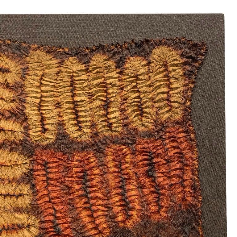 Raffia Set of Five Dida Tie-Dyed Ceremonial Kerchiefs For Sale