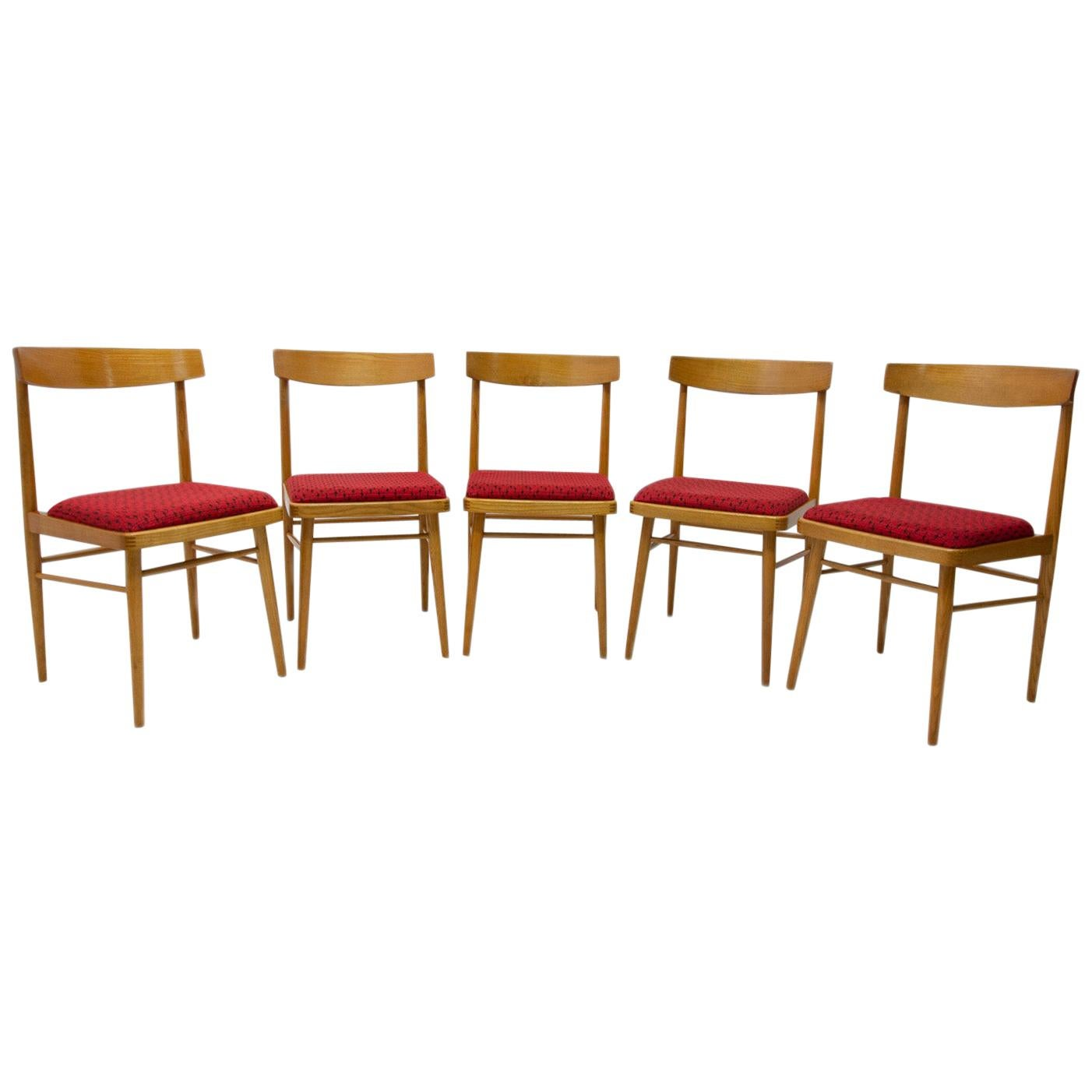 Set of Five Dining Chairs TON, Czechoslovakia, 1970s