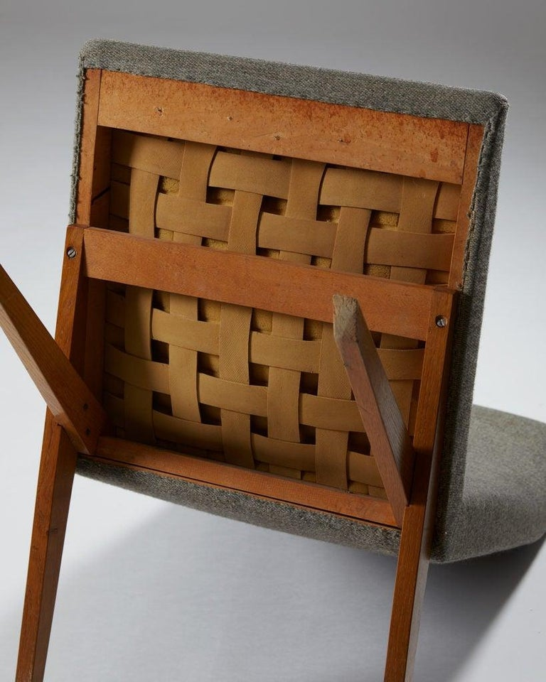Set of Five Easy Chairs Designed by Bodil Kjaer for Harbo Sølvsten, Denmark For Sale 5