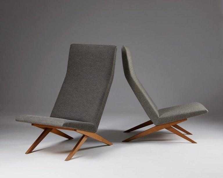 Danish Set of Five Easy Chairs Designed by Bodil Kjaer for Harbo Sølvsten, Denmark For Sale