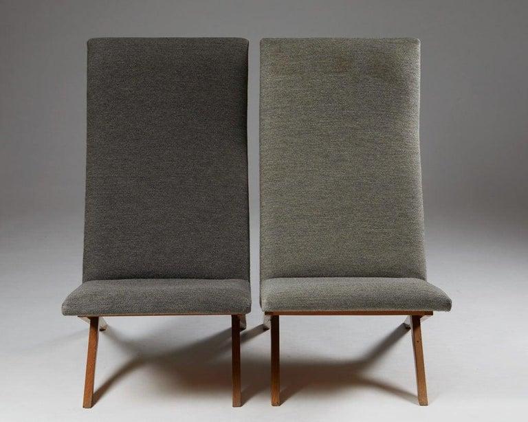 Mid-20th Century Set of Five Easy Chairs Designed by Bodil Kjaer for Harbo Sølvsten, Denmark For Sale