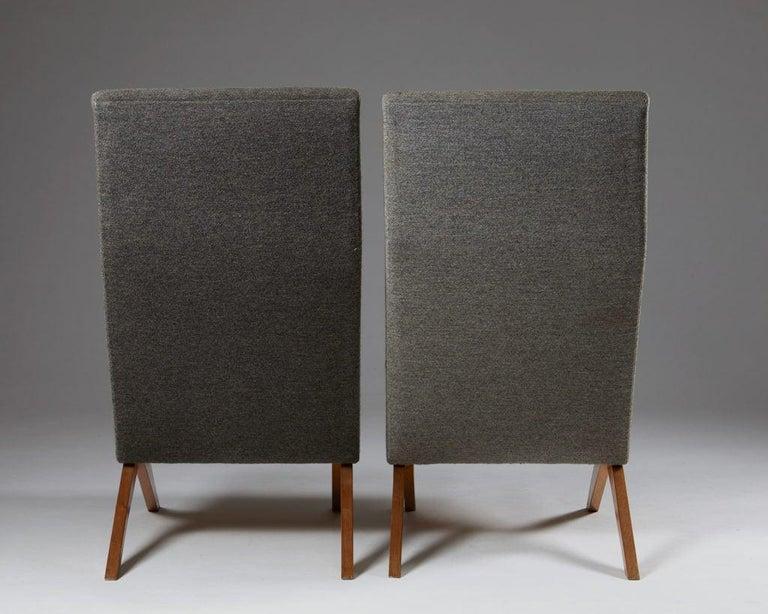 Wood Set of Five Easy Chairs Designed by Bodil Kjaer for Harbo Sølvsten, Denmark For Sale