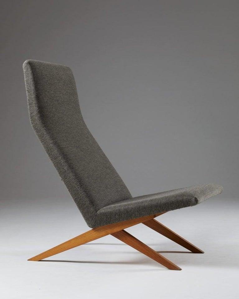Set of Five Easy Chairs Designed by Bodil Kjaer for Harbo Sølvsten, Denmark For Sale 1
