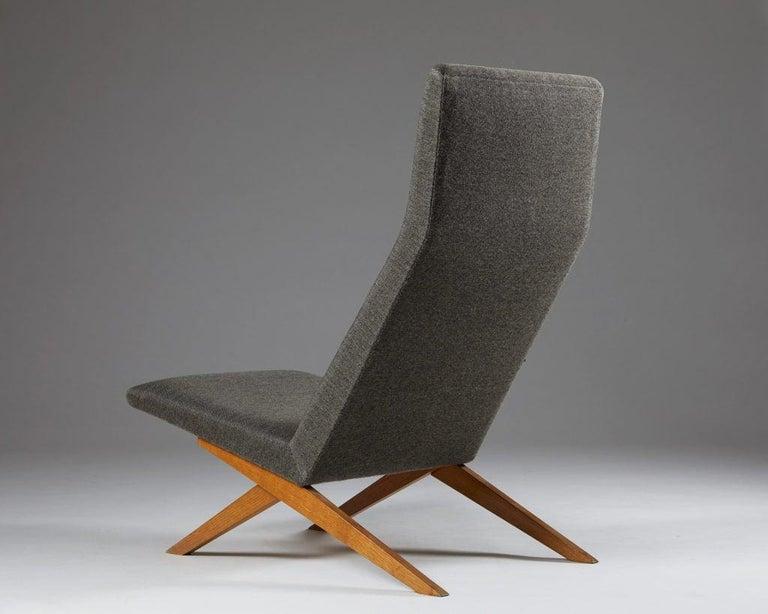 Set of Five Easy Chairs Designed by Bodil Kjaer for Harbo Sølvsten, Denmark For Sale 2