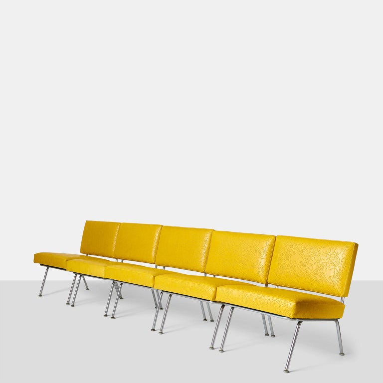 Mid-Century Modern Set of Five Florence Knoll Chairs Model #31 for Knoll International For Sale