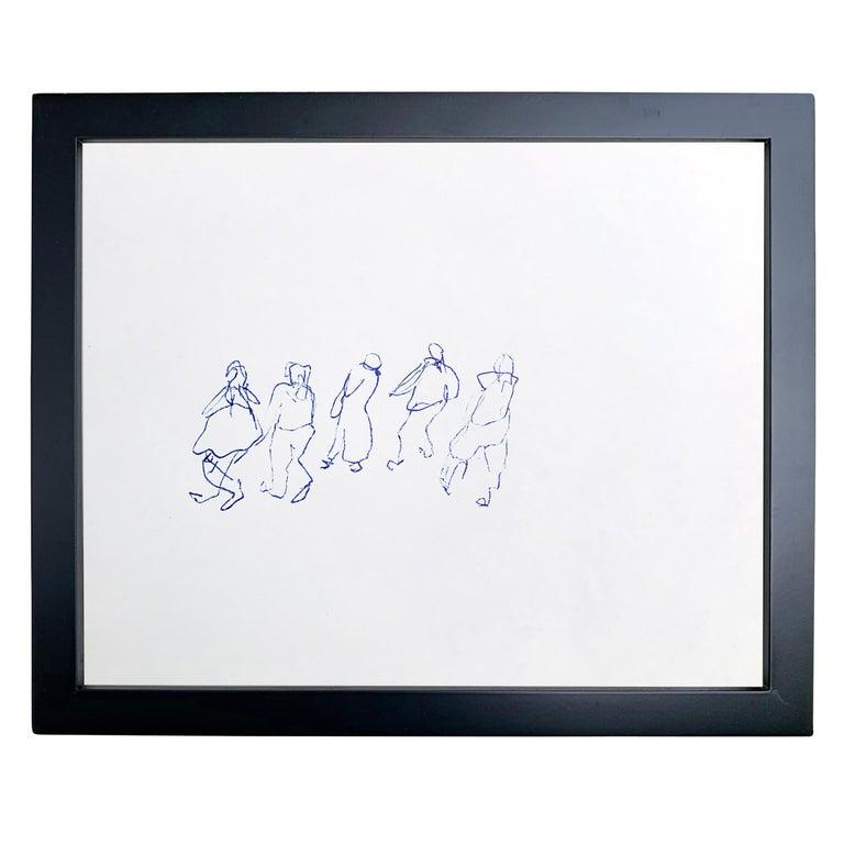 American Set of Five Framed Gestural Figure Drawings by Paul Chidlaw For Sale