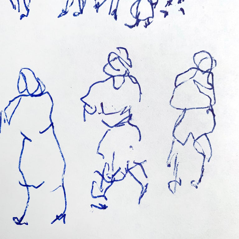 Set of Five Framed Gestural Figure Drawings by Paul Chidlaw For Sale 2