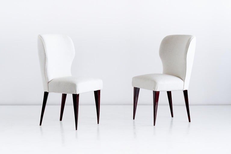 Fabric Set of Five Gio Ponti Dining Chairs for Casa e Giardino, Italy, 1942 For Sale