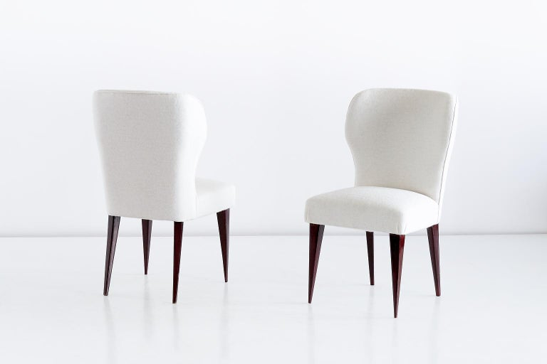 Set of Five Gio Ponti Dining Chairs for Casa e Giardino, Italy, 1942 For Sale 1