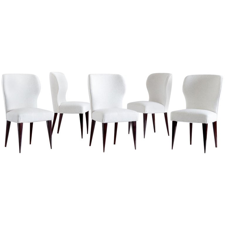 Set of Five Gio Ponti Dining Chairs for Casa e Giardino, Italy, 1942 For Sale