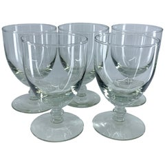 Set of Five Glass Goblets