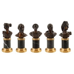 Set of Five Italian 19th Century Neoclassical St. Statuettes