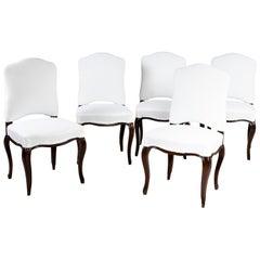 Set of Five Italian Baroque Chairs, 18th Century