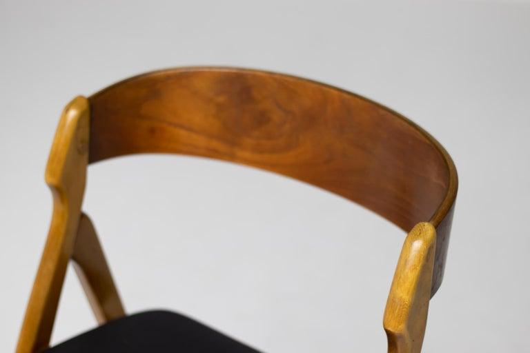 Scandinavian Modern Set of Five Kai Kristiansen Teak Dining Chairs For Sale