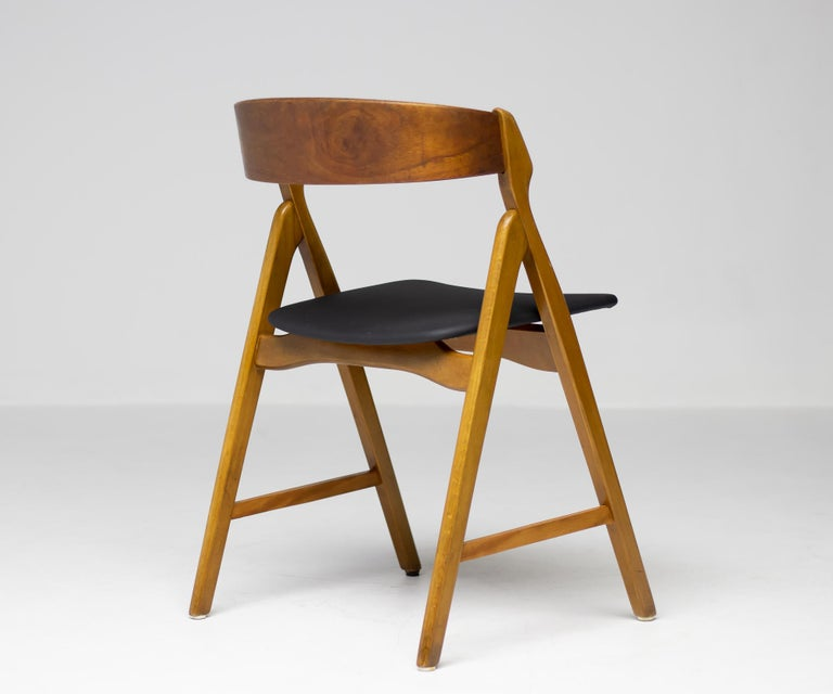 Danish Set of Five Kai Kristiansen Teak Dining Chairs For Sale