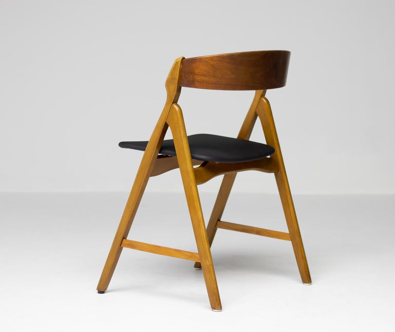 Set of Five Kai Kristiansen Teak Dining Chairs In Good Condition For Sale In Dronten, NL