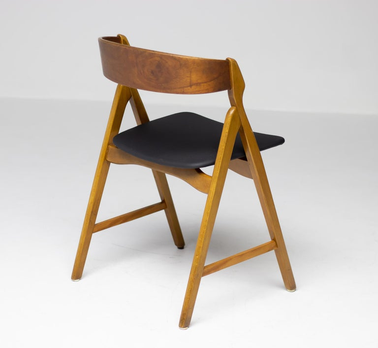 Set of Five Kai Kristiansen Teak Dining Chairs For Sale 1