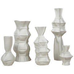 Set of Five Kawa Vases by Luft Tanaka, in Stock