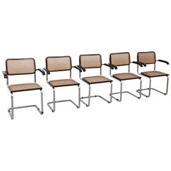 Set of Five Marcel Breuer Cesca Chairs, circa 1970