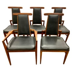 Set of Five Mid-Century Modern Signed Foster-McDavid Ox Sculptural Dining Chairs